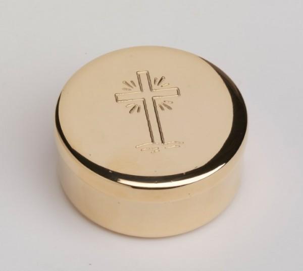Hostienbehälter vergoldet D 5 cm