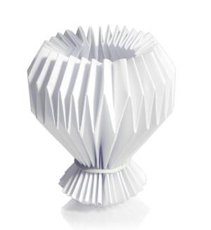 Kerzenmanschette weiß Papier